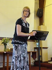 Tracy teaching at Oldham, June 2012